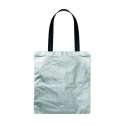 Shopping bag made of durable and recyclable TyvekŽ material with coloured coating and long cotton handles
