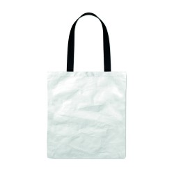 Shopping bag made of durable and recyclable TyvekŽ material with long cotton handles