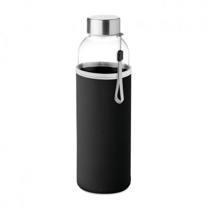 Glass bottle with neoprene pouch in 500 ml
