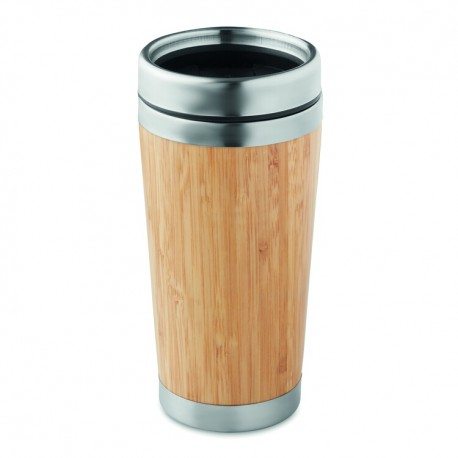 Bamboo double wall travel cup 400 ml