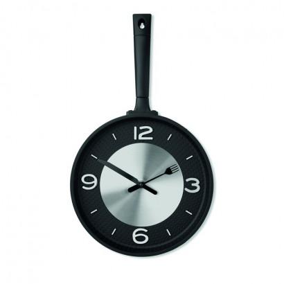 Wall clock in pan shape