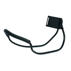 Hands free phone holder in flexible stainless steel wire