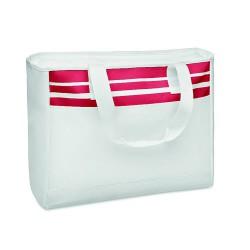 Tote bag with fastener front pocket