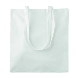 Bamboo fibre cotton shopping bag with long handles