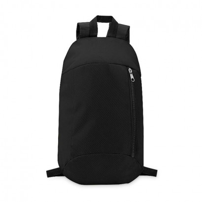 Backpack in 600D polyester with zippered outside pocket and for comfort a padded back section in 210D polyester