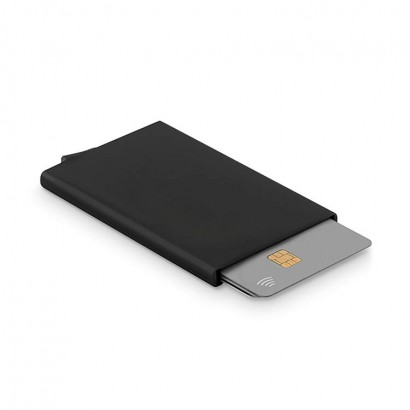 Aluminium credit card holder with RFID protection