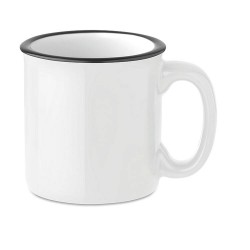 Ceramic vintage style mug 240 ml capacity with special coating for sublimation print