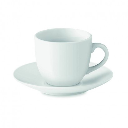Porcelain espresso cup and saucer 80 ml