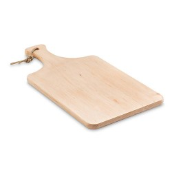 Cutting board with handle and cord hanger, manufactured in EU Alder wood