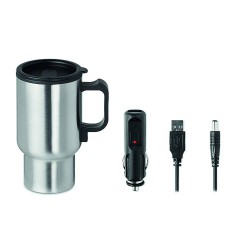 Double wall stainless steel with PP inner drinking mug with stay warm functionality 450ml