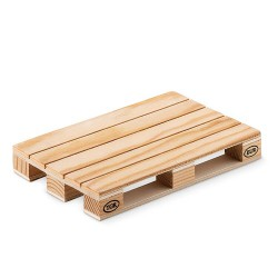 Pine Wooden coaster in shape of mini EUR pallet