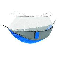 Hammock with integrated mosquito net