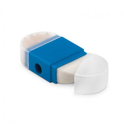 Combination sharpener and eraser in 1