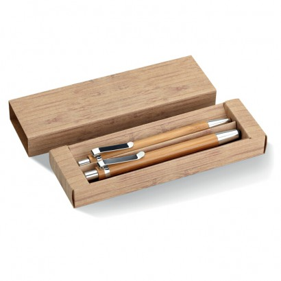 Bamboo pen and pencil set