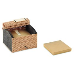 Bamboo desk pad containing 500 sheets of recycled paper note sheets