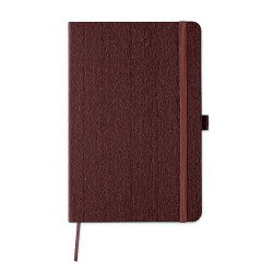 A5 notebook in wooden pattern effect soft PU cover