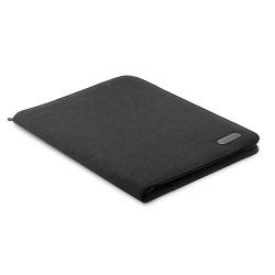 Zipped A4 size portfolio in two tone polyester