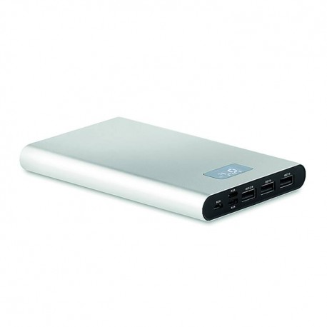 Power bank 16000 mAh in aluminium with 3 output ports