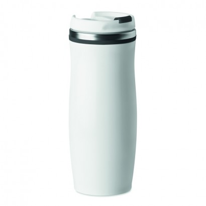 Double wall Stainless Steel mug with PP twist lid, 400 ml