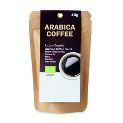 Organic Arabic coffee powder, 40 gr