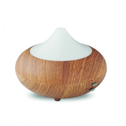 Aroma diffusor with 7 colour changing mood light in bamboo look