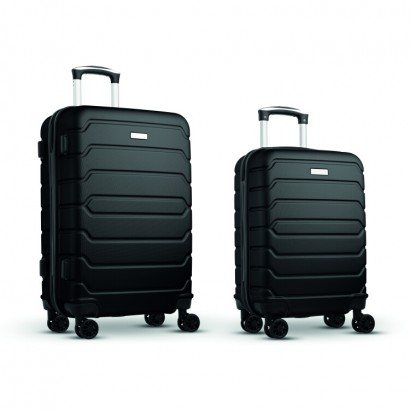 Set of 24 inch and 20 inch trolley with 4 wheel hard-shell in ABS