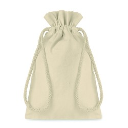 Small gift cotton draw cord bag, 14 x 22cm
