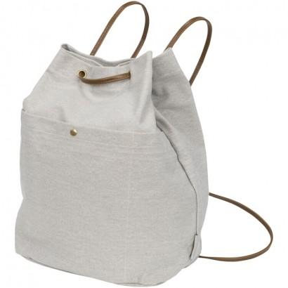 Harper cotton canvas drawstring backpack