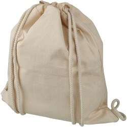 Recycled cotton drawstring backpack