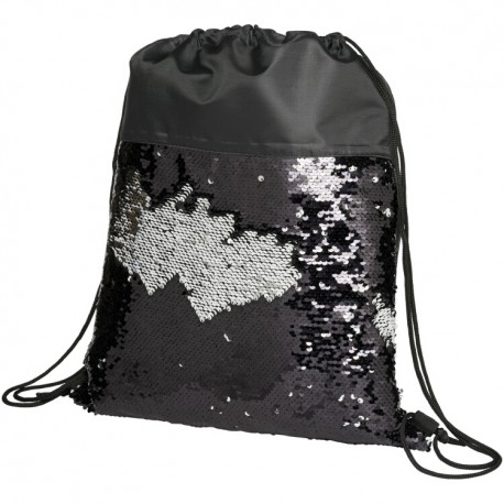 Sequin drawstring backpack