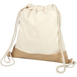 Cotton jute drawstring backpack