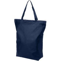 Zippered short handle non-woven tote bag