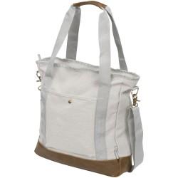 """Harper"" zippered cotton canvas tote bag"