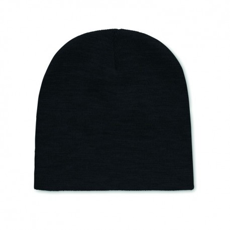 Unisex knitted Beanie hat in soft stretchable RPET polyester