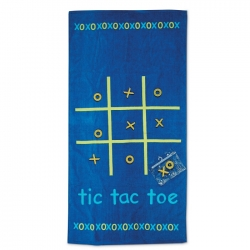 Tic-Tac-Toe beach towel