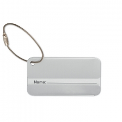 Aluminim luggage tag