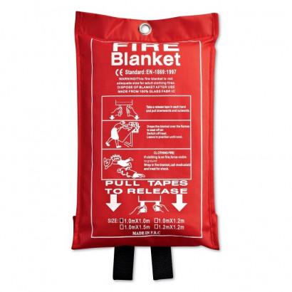 Fire blanket in a pouch