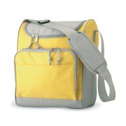 Cooler bag with front pocket