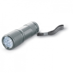 Metal torch with 9 LED lights