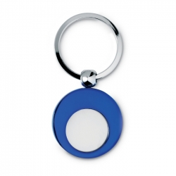 Metal key ring with token