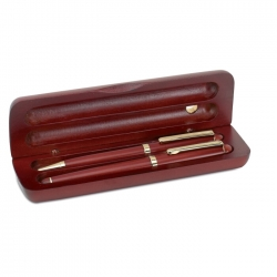 Wood pen set in box