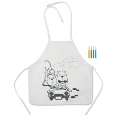Non woven apron with 4 markers