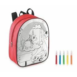 Backpack with 5 markers