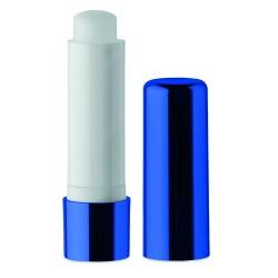 Natural lip balm in UV metallic finish