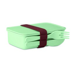 Lunch box in bamboo fibre
