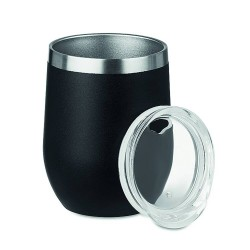 350ml powder coated double wall stainless steel mug