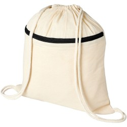 Zippered drawstring backpack