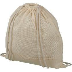 Mesh cotton drawstring backpack